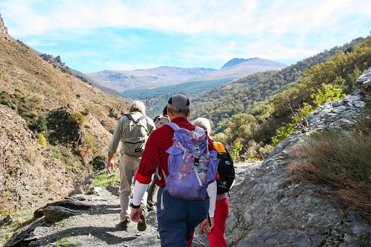 Wanderer im Trevélez-Tal