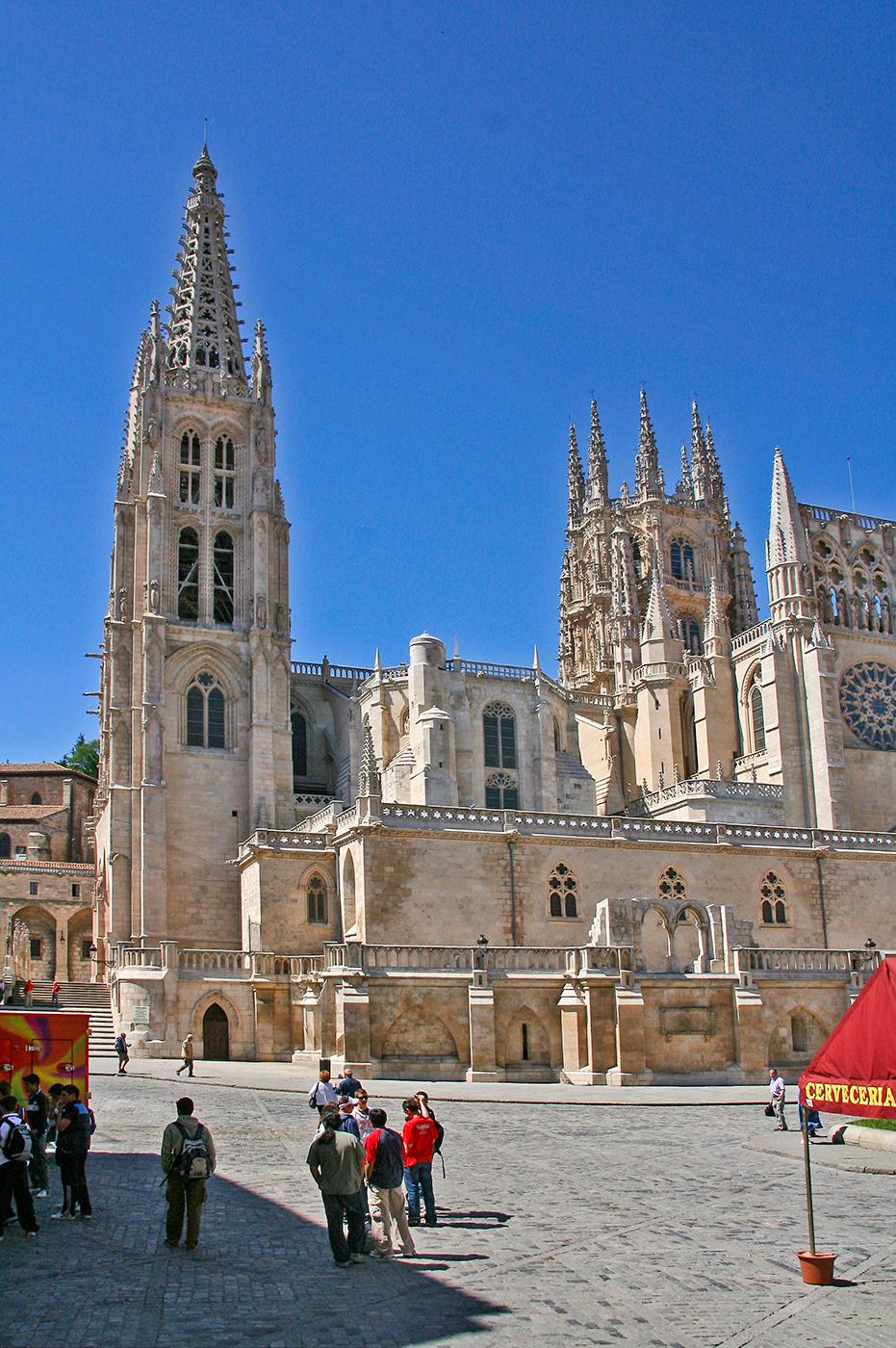 Blick auf die Kathedrale von Burgos