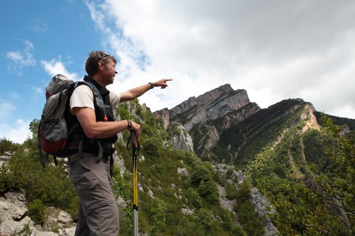 Wanderführer Stephan Isenmann vor dem Anisclo-Canyon