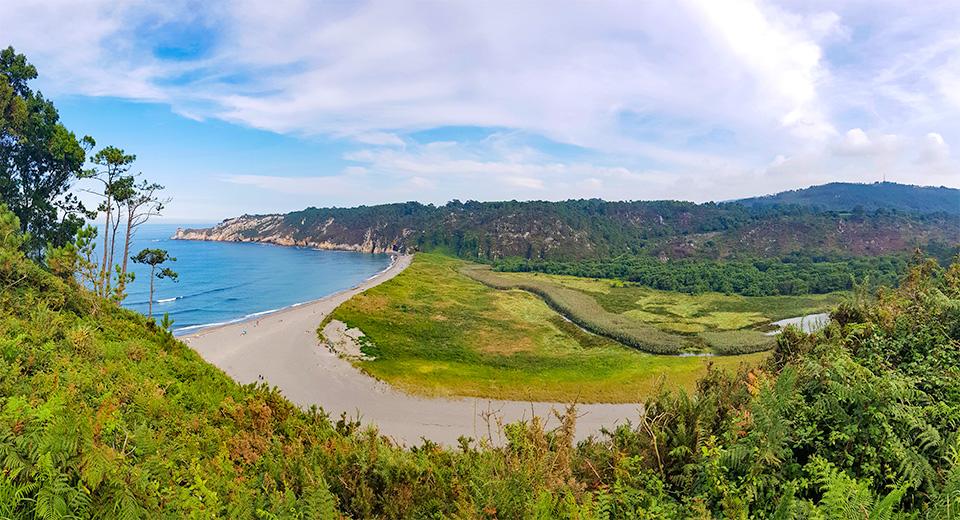 Ausblick auf den Playa de Barayo