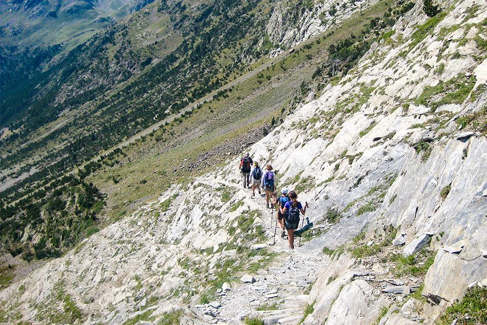 Wandergruppe im Naturpark Posets Maladeta