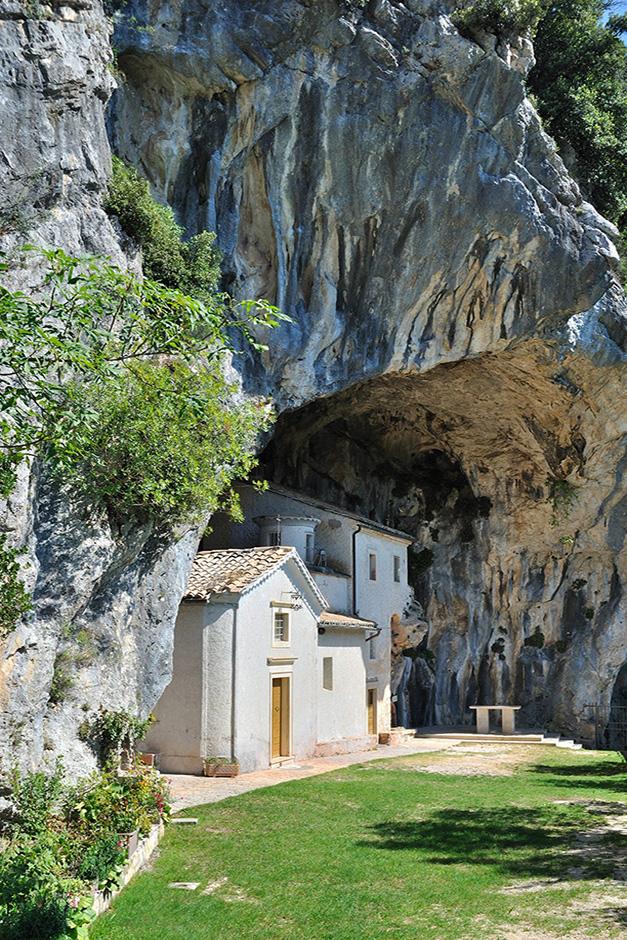 Die Kapelle Madonna delle Cese kurz vor Collepardo