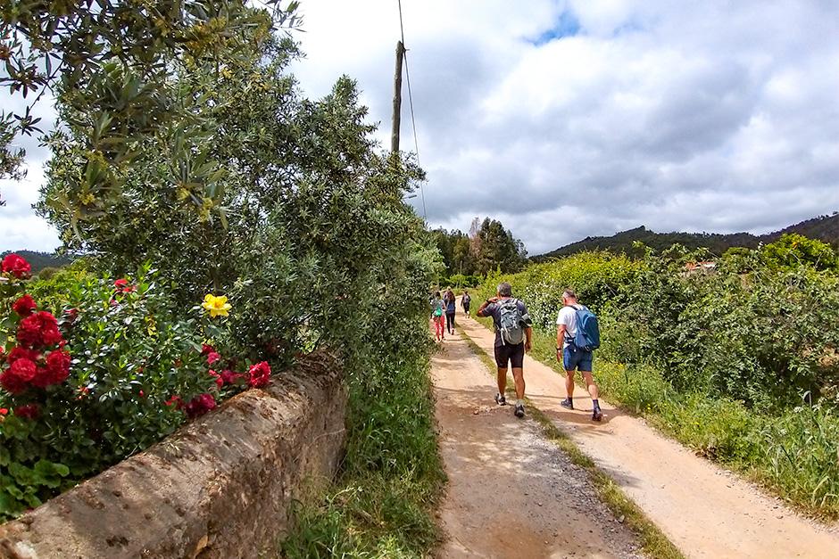 Wanderer auf dem Weg nach Odemira