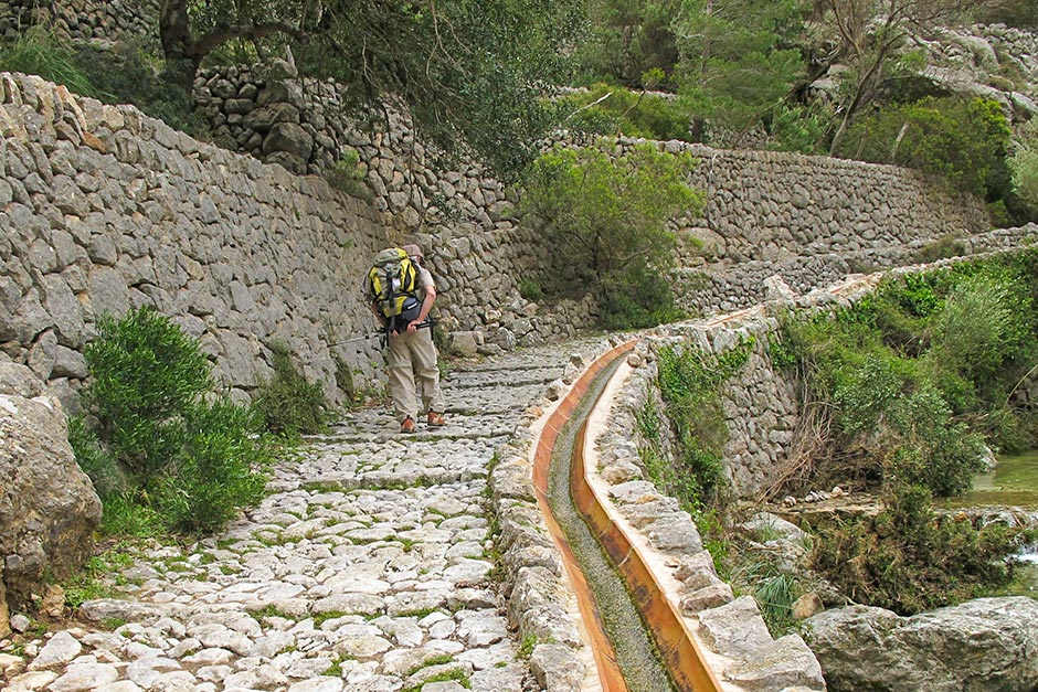 Trocksteinmauerweg auf Mallorca