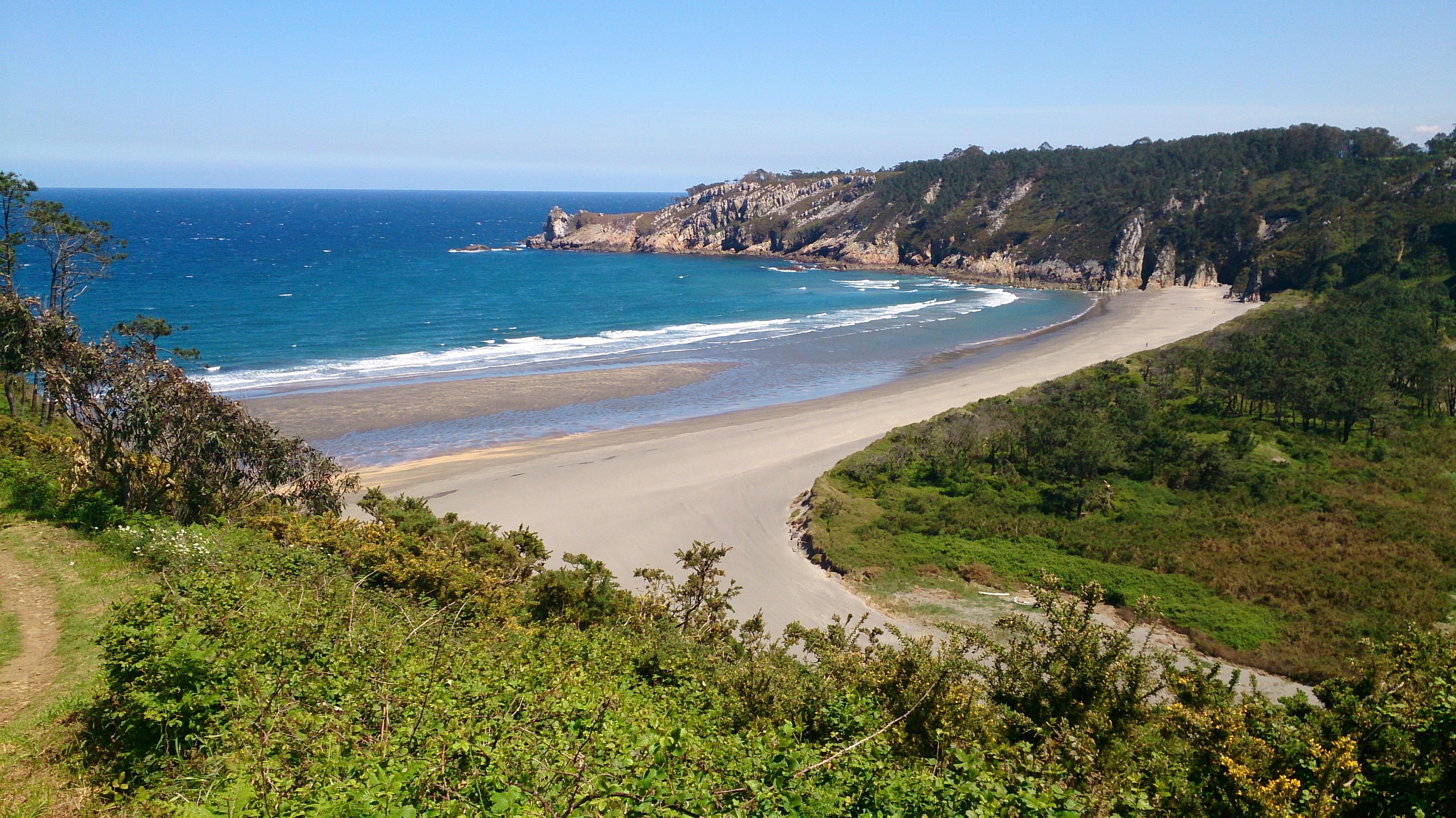 Blick auf den Playa de Barayo