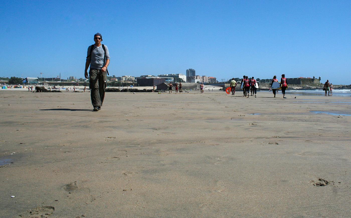 Matosinhos: Pilger am Strand
