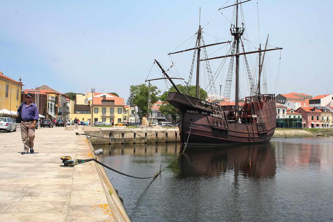 historsiche Galone im Hafen von Vila do Conde