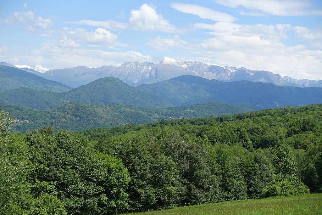 Wandern Italien Friaul - Blick auf Julische Alpen