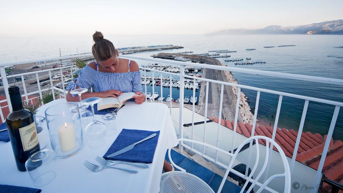 Restaurant mit Dachterrasse Hotel Bue Marino