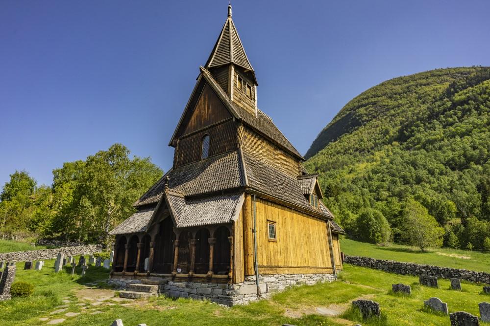 Malerische Stabkirche Urnes