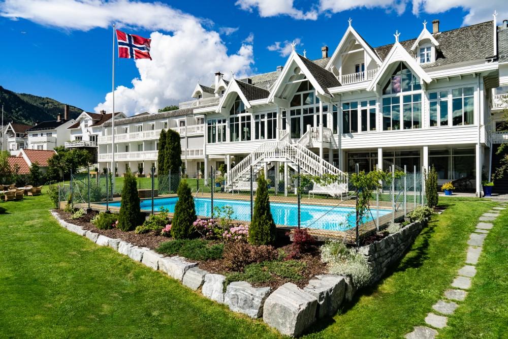 Aussenansicht Hofslund Fjord Hotel